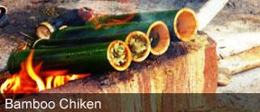Bamboo Chiken at Maredumilli